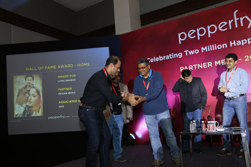 Pepperfry felicitates Megan Impex with HALL of FAME Award !!!